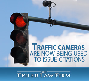Picture of a Traffic Light with A Camera to Combat Reckless Driving in Miami